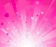 Roze stralende achtergrond Royalty-vrije Illustratie