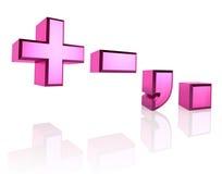 Roze Symbolen Royalty-vrije Stock Afbeeldingen