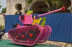 Roze tank Royalty-vrije Stock Afbeeldingen