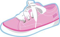 Roze Tennisschoen Vectorkunst en lustration Stock Afbeelding