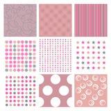 Roze texturen Royalty-vrije Stock Afbeeldingen