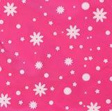 Roze textuur met witte sneeuwvlokken. Royalty-vrije Stock Fotografie