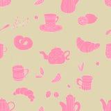 Roze theepatroon Royalty-vrije Stock Afbeeldingen