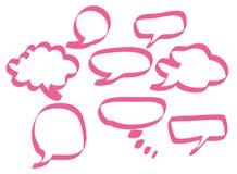 Roze toespraakbellen Stock Foto's