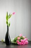 Roze tulpenstilleven Stock Afbeelding