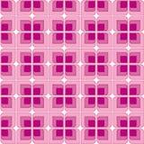 Roze Uitstekend Naadloos Patroon Stock Foto