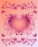 Roze Valentijnskaart Stock Fotografie