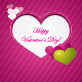 Roze valentijnskaartachtergrond met gebied voor tekst Stock Foto