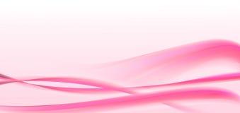 Roze valentijnskaartengolven Stock Fotografie