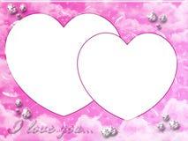 Roze valentijnskaartframe royalty-vrije illustratie