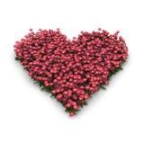 Roze valentijnskaarthart met bloemen Stock Illustratie