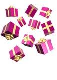 Roze vallen stelt voor stock illustratie