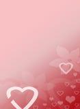 Roze van de Valentijnskaarten van de Liefde van het Hart Kantoorbehoeften Als achtergrond Royalty-vrije Stock Fotografie