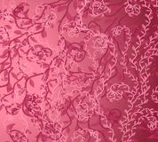 Roze van de Wijnstok Patroon Als achtergrond Stock Afbeeldingen