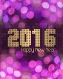 Roze van het Glittery het Gelukkige Nieuwjaar 2016 Royalty-vrije Stock Afbeeldingen