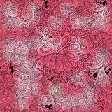 Roze van het krabbel het naadloze patroon Stock Afbeelding