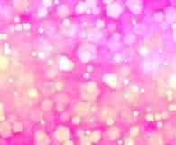 Roze van liefde bokehs achtergrond stock illustratie