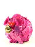 Roze varken van geld-doos stock afbeelding