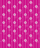 Roze vectorbehangpatroon. Stock Afbeelding
