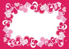 roze vectorframe stock illustratie