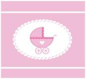 Roze vectorillustratie van een baby Stock Afbeelding