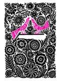 Roze vectorvogels royalty-vrije illustratie