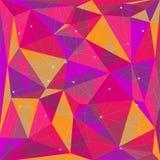 Roze Veelhoekige Achtergrond Stock Afbeelding