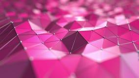 Roze Veelhoekige Achtergrond het 3d teruggeven Stock Foto's
