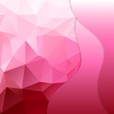 Roze veelhoekige mozaïekachtergrond royalty-vrije illustratie