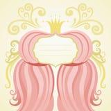 De kaart van de uitnodiging, van de verjaardag of van het huwelijk. Het varkenskot van de prinses Stock Fotografie