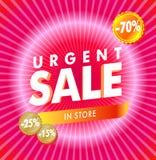 Roze verkoop royalty-vrije illustratie