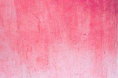 Roze Versleten bleek - roze concrete muur royalty-vrije stock fotografie