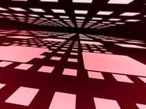 Roze vierkanten. Stock Afbeelding