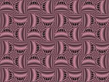 Roze vierkanten op een zwarte achtergrond Geometrisch textiel naadloos patroon royalty-vrije illustratie