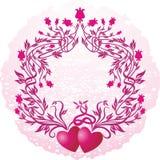 Roze vignet Stock Afbeeldingen
