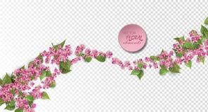 Roze Vliegende Bloemen Stock Foto's