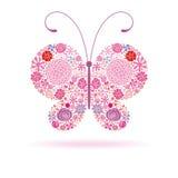 Roze vlinder Stock Foto