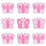 Roze Vlinders Stock Afbeelding