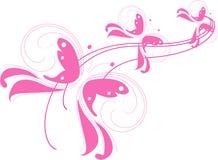 Roze vlinders Stock Afbeeldingen