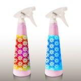 Roze vloeibare zeep in pompfles Royalty-vrije Stock Foto
