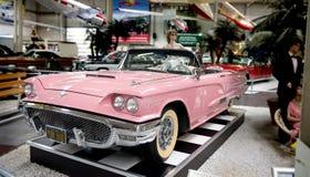 Roze Vogel - Amerikaanse droomauto - Museum Sinsheim Royalty-vrije Stock Afbeelding