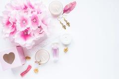 Roze vrouwelijke gestileerde voorraadfoto Stock Foto