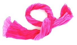 Roze vrouwelijke sjaal Stock Foto's
