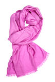 Roze vrouwelijke sjaal Stock Afbeeldingen