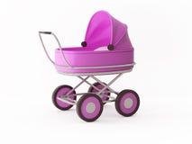 Roze wandelwagen Stock Foto