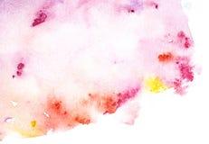 Roze waterverfachtergrond Abstract Hand geschilderd malplaatje met ongelijke randen Waterverfwas vector illustratie