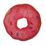 Roze waterverfdoughnut stock illustratie