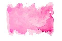 Roze waterverfvlek Stock Foto