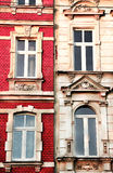 Roze-wit huis Royalty-vrije Stock Afbeelding
