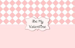 Roze Wit Valentine Card Royalty-vrije Stock Foto